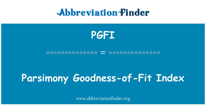 PGFI: Takarékosság jóság az illeszkedés-az Index