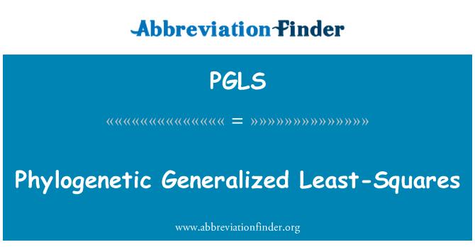 PGLS: Phylogenetic Generalized Least-Squares