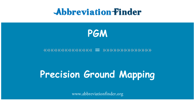 PGM: Precision Ground Mapping