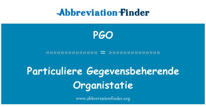 PGO: Particuliere Gegevensbeherende Organistatie