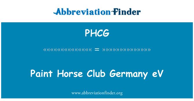 PHCG: Paint Horse Club Germany eV