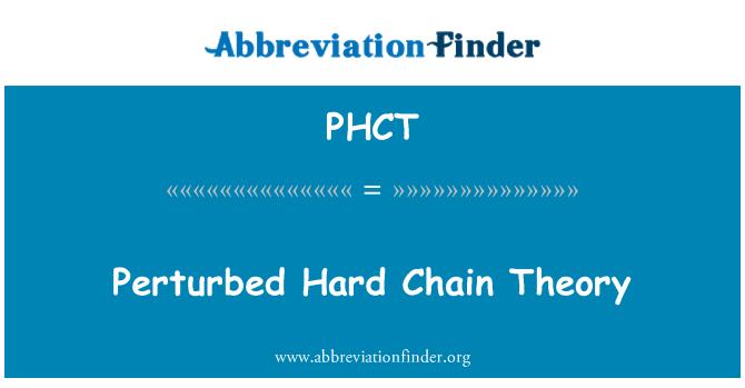 PHCT: Zor zinciri teorisi tedirgin