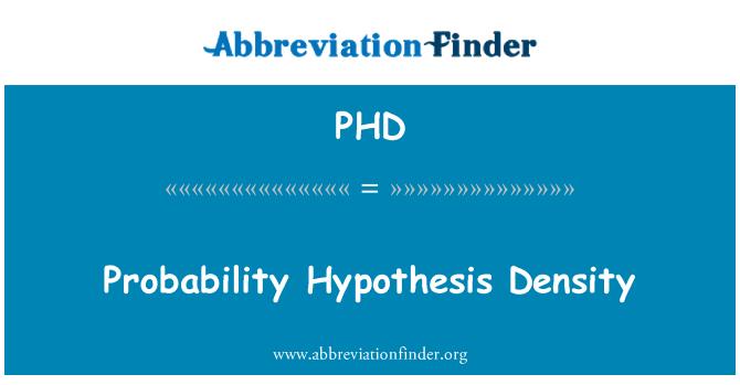 PHD: Probability Hypothesis Density