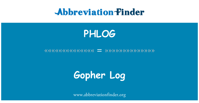PHLOG: Gopher Log