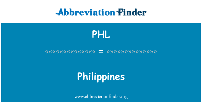 PHL: Philippines