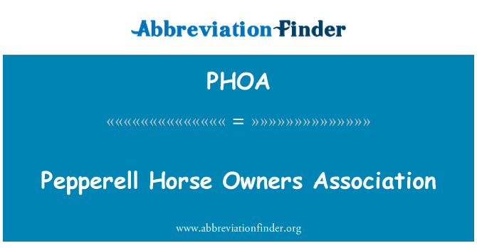 PHOA: Pepperell Horse Owners Association