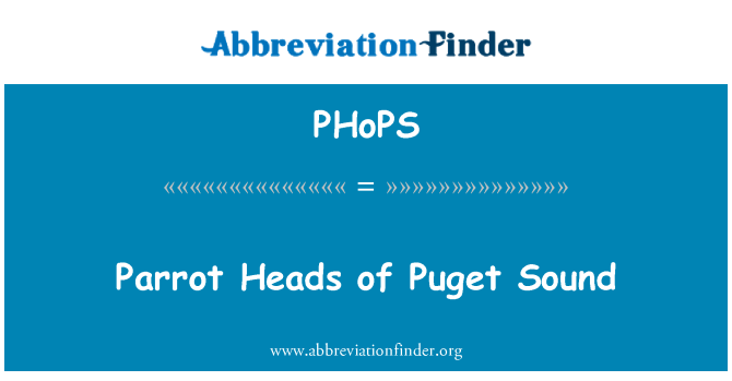 PHoPS: Cabezas de loro del sonido de Puget