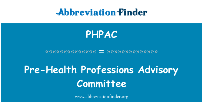 PHPAC: Pre-Health Professions Advisory Committee