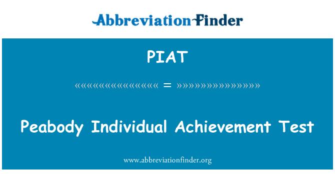 PIAT: Peabody bireysel başarı testi