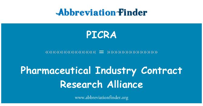 PICRA: İlaç endüstrisi sözleşme araştırma İttifak