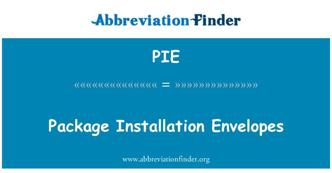 PIE: Paketet Installation kuvert