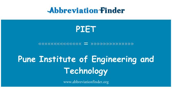 PIET: Pune Instituto de ingeniería y tecnología