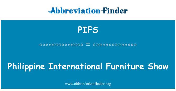 PIFS: Philippine International Furniture Show