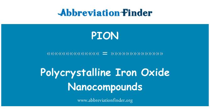 PION: Policristalino nanocompuestos de óxido de hierro