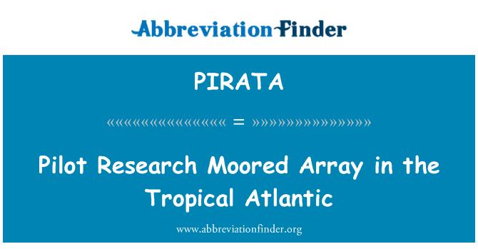 PIRATA: Investigación piloto amarrado Array en el Atlántico Tropical