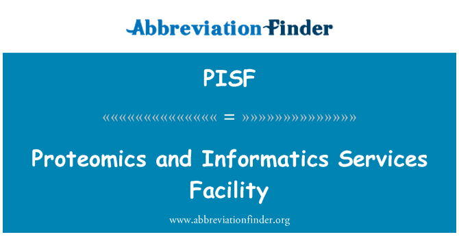 PISF: Proteomics and Informatics Services Facility