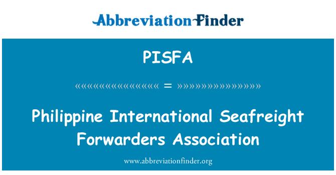 PISFA: Asociace pro předávání filipínské mezinárodní Kontejnerová přeprava