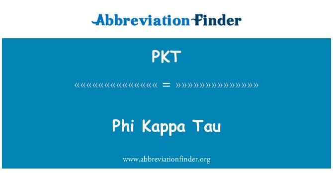 PKT: Phi Kappa Tau