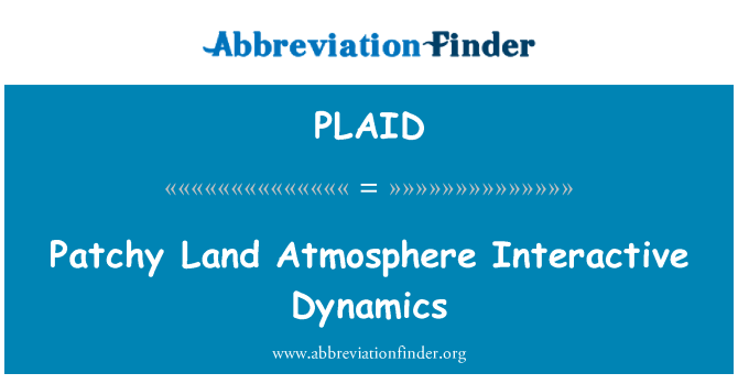 PLAID: Patchy Land Atmosphere Interactive Dynamics