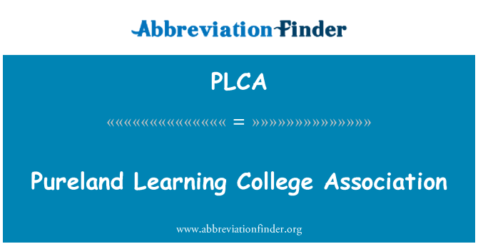PLCA: Pureland Learning College Association