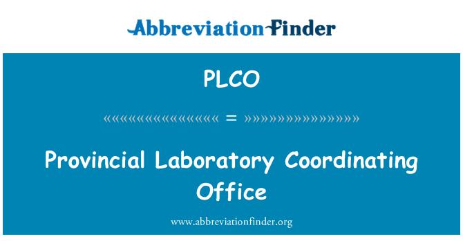 PLCO: Oficina de coordinación de laboratorio provincial