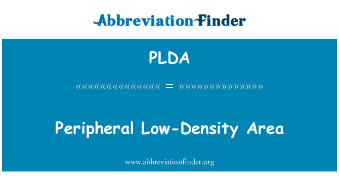 PLDA: Peripheral Low-Density Area