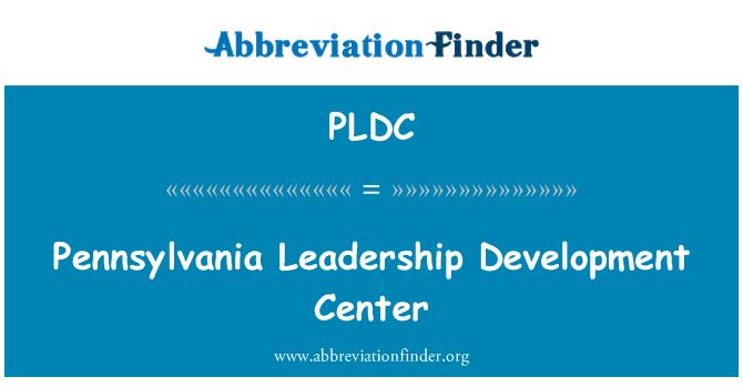 PLDC: Centro de desarrollo de liderazgo de Pennsylvania