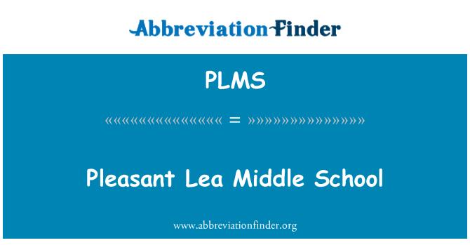 PLMS: Lea agradable Middle School