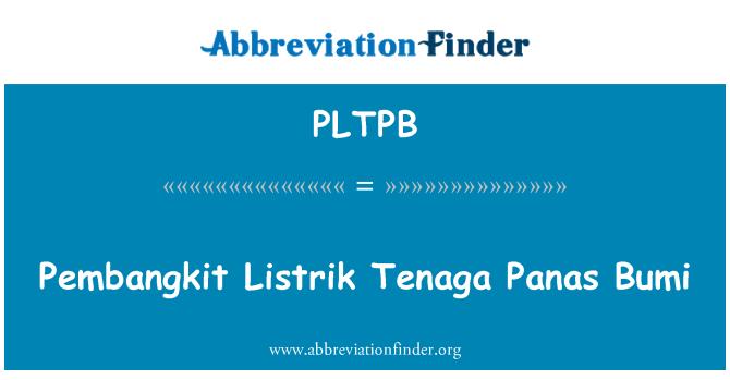 PLTPB: Pembangkit Listrik Tenaga Panas Bumi