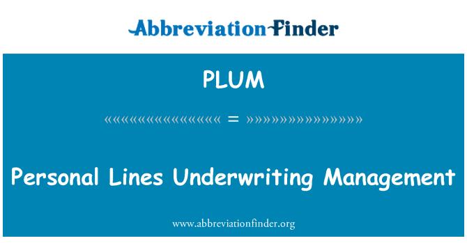 PLUM: Gestión de suscripción de líneas personales