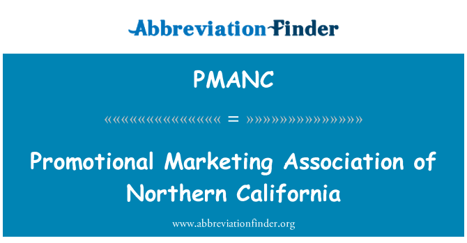 PMANC: Promotional Marketing Association of Northern California