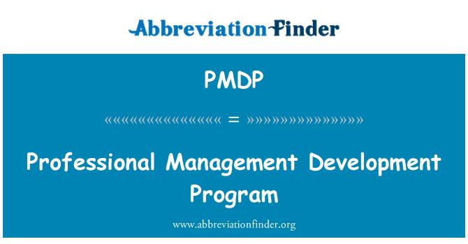 PMDP: Professional Management Development Program