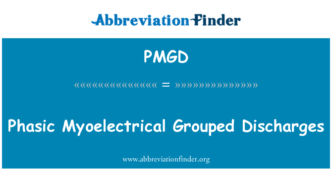 PMGD: Phasic Myoelectrical Grouped Discharges