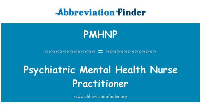 PMHNP: Practicante de enfermera en Salud Mental psiquiátrica