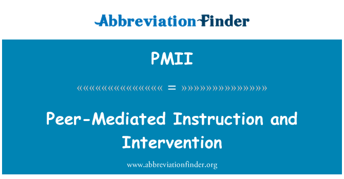 Pmii Mritelm Peer Mediated Instruction And Intervention