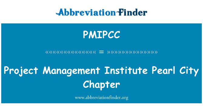 PMIPCC: Project Management Institute Pearl City Chapter