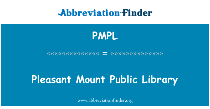 PMPL: Mount Pleasant Public Library