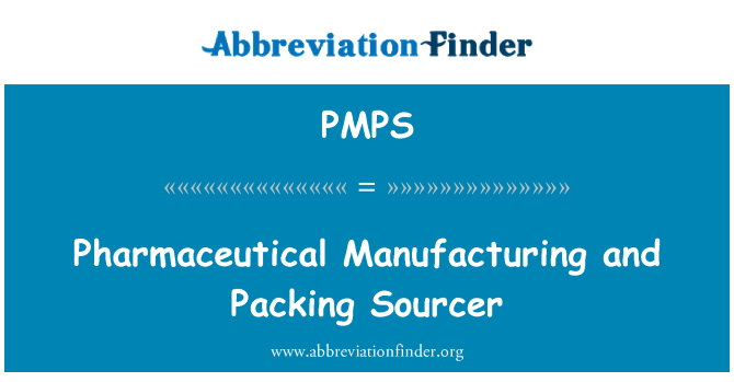 PMPS: Pharmaceutical Manufacturing and Packing Sourcer