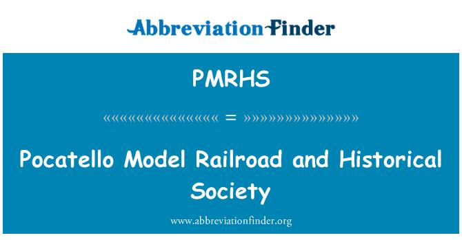 PMRHS: Pocatello Model Railroad and Historical Society