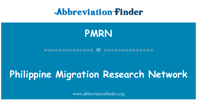 PMRN: Philippine Migration Research Network