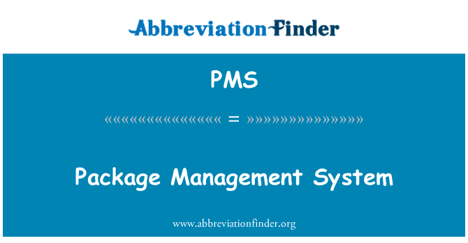 PMS: Package Management System