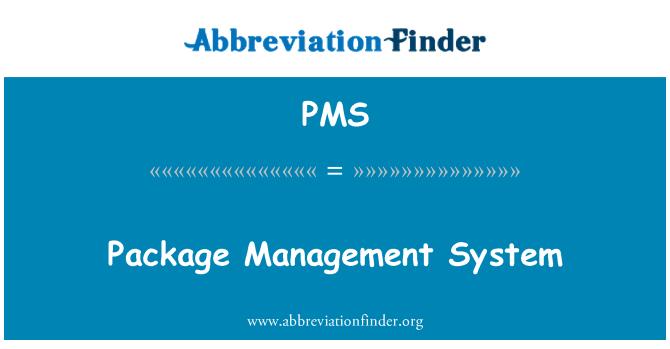 PMS: Sistema de gestión de paquetes