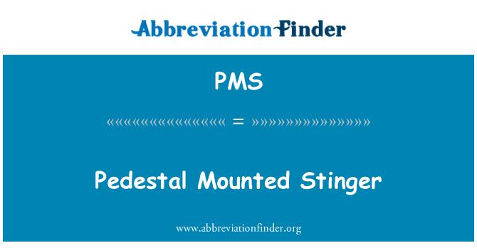 PMS: پیڈسٹل واقع سٹانگر