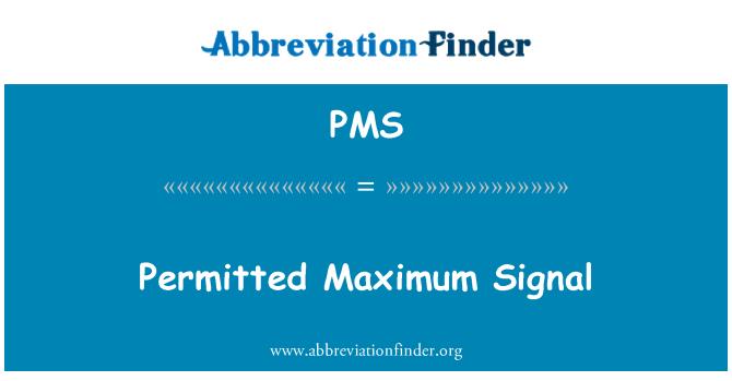 PMS: زیادہ سے زیادہ سگنل کی اجازت