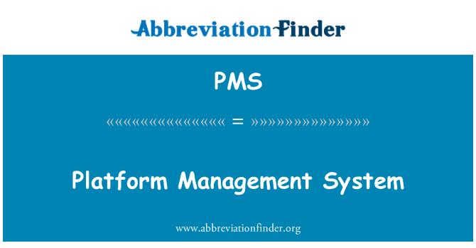 PMS: Platform pengurusan sistem