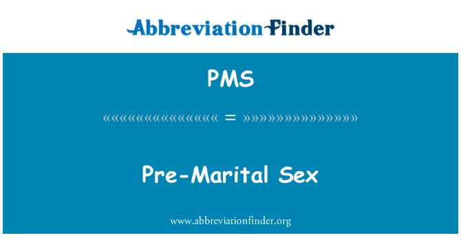 PMS: Seks sebelum perkahwinan