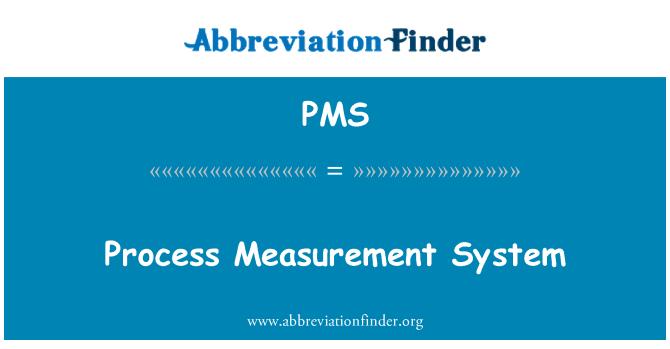 PMS: Sistem pengukuran proses