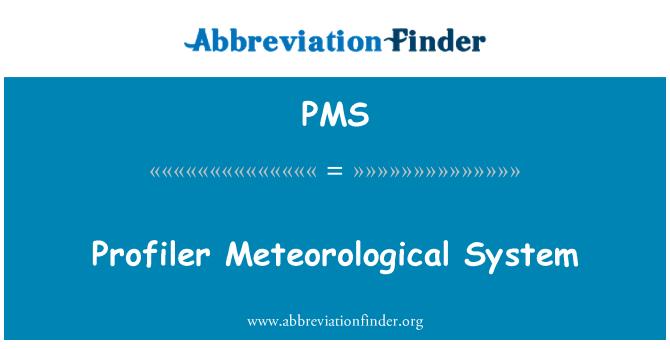 PMS: Sistem Meteorologi profiler