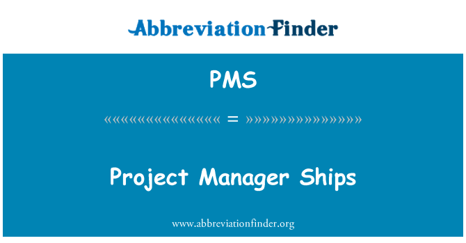 PMS: Project Manager schepen