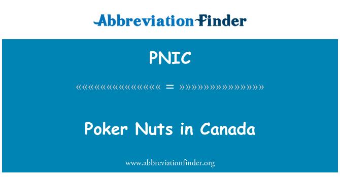PNIC: Poker Nuts in Canada